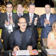 Signing Ceremony of the Memorandum of Understanding to build two more Patty's Child Clinics in Pakistan.