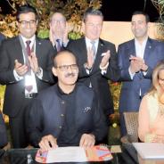 Unterzeichnung des Memorandum of Understanding zum Bau von zwei weiteren Patty´s Child Clinics in Pakistan.